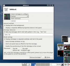 DockApps managed in separate windows.